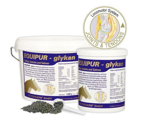 Ergänzungsfutter mit Gelenknährstoffen für Pferde - EQUIPUR - glykan